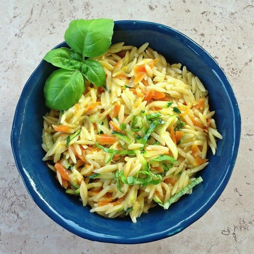 Cheezy Vegetable Orzo