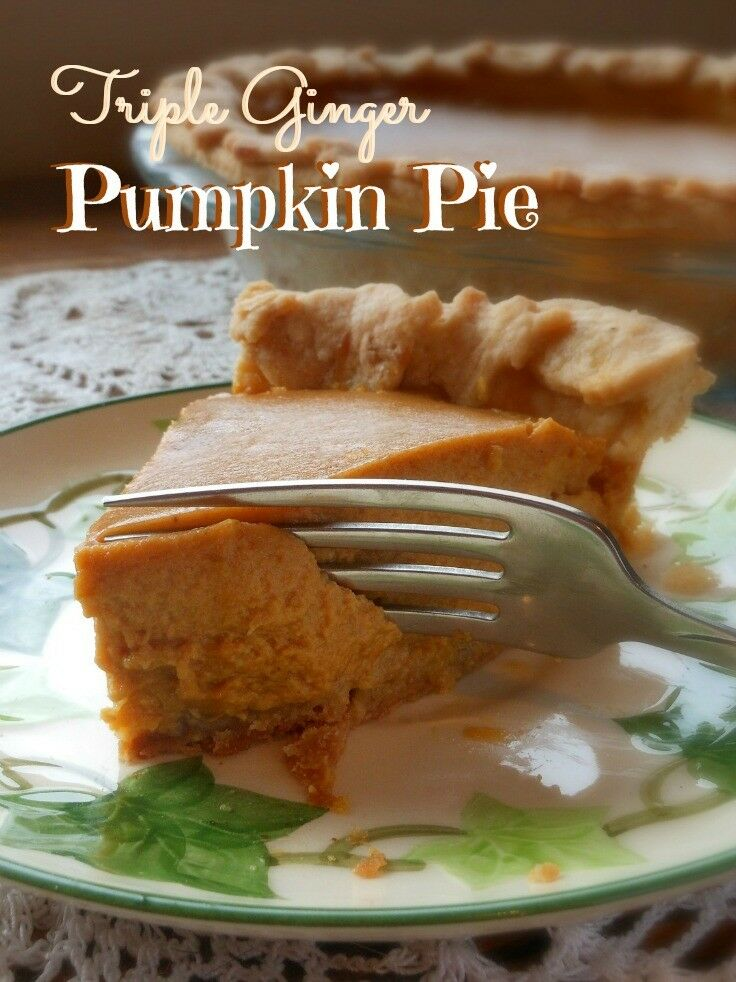 Triple Ginger Pumpkin Pie | The Good Hearted Woman
