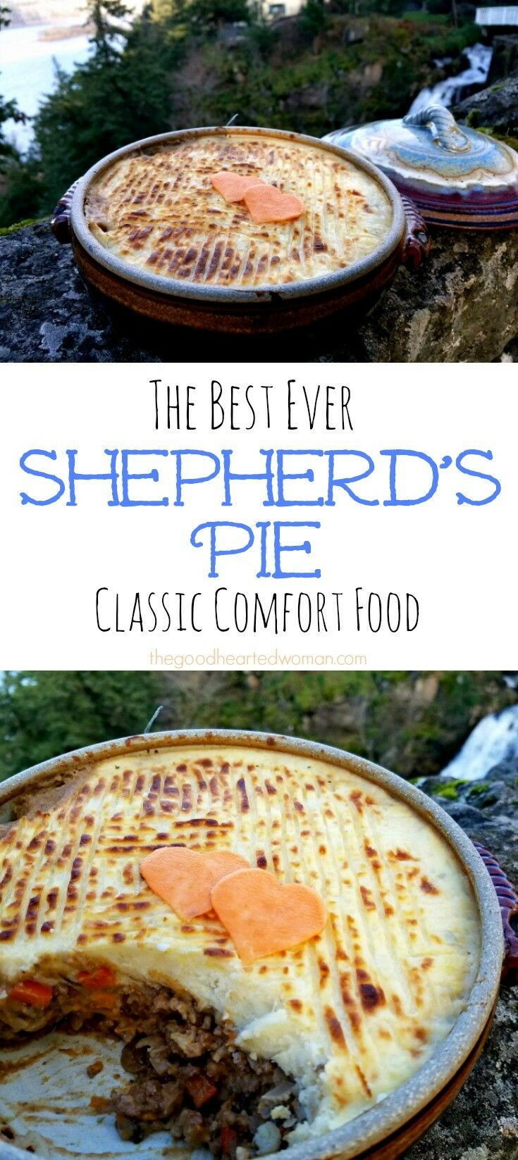 Shepherd's Pie is classic comfort food. One bite of this time-tested family favorite will wrap you in a blanket as warm as a winter fire. It's just that good. {Recipe} | The Good Hearted Woman