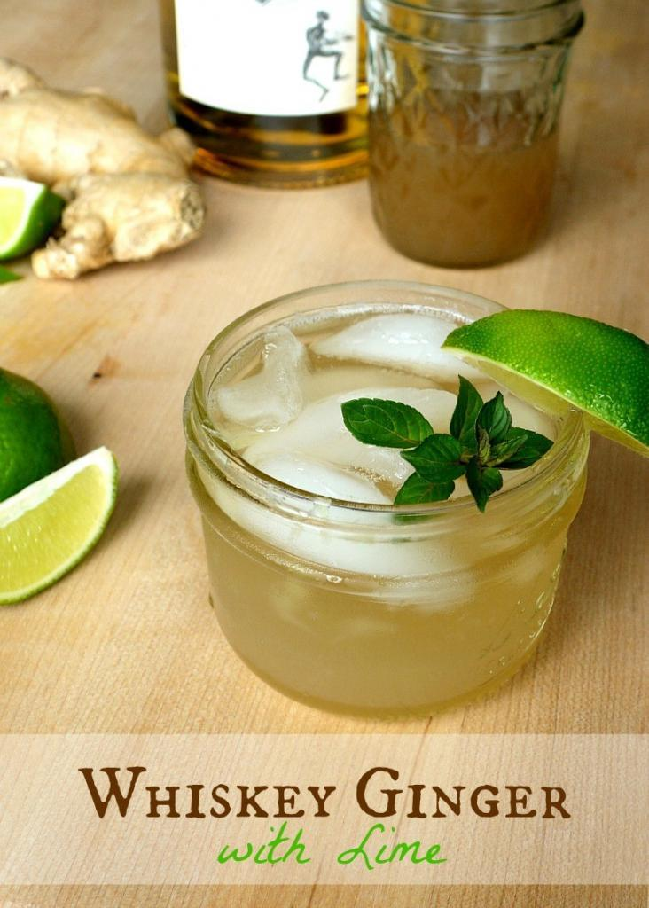 Whiskey Ginger with Lime | The Good Hearted Woman