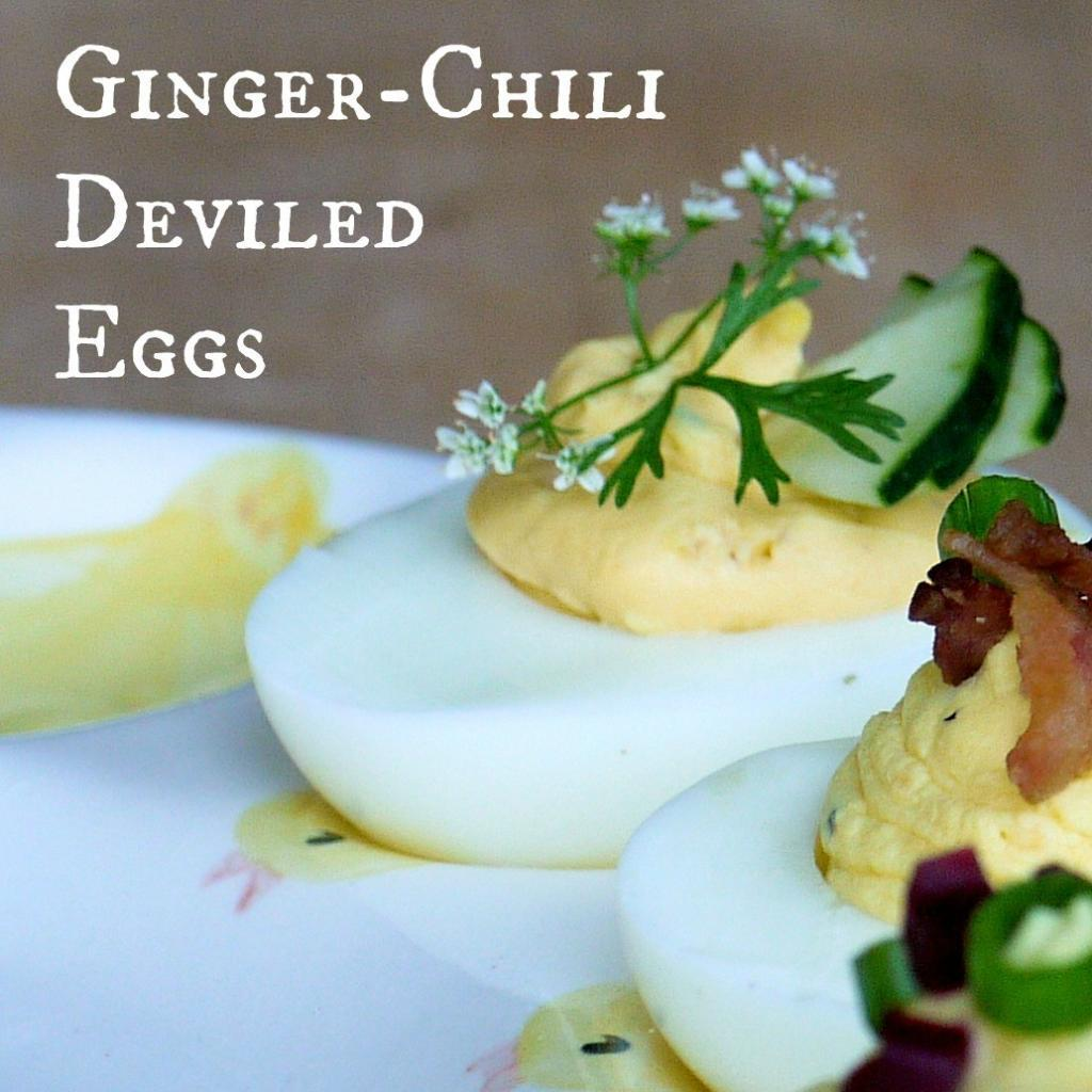 Ginger Chili Deviled Eggs | The Good Hearted Woman