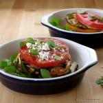 Heirloom Tomato & Eggplant Stacks | The Good Hearted Woman