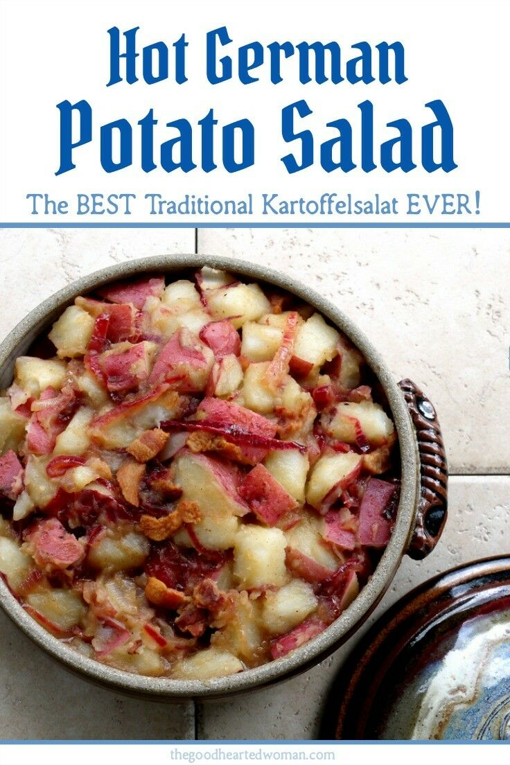 Hot German Potato Salad Recipe (Kartoffelsalat} | The Good Hearted Woman