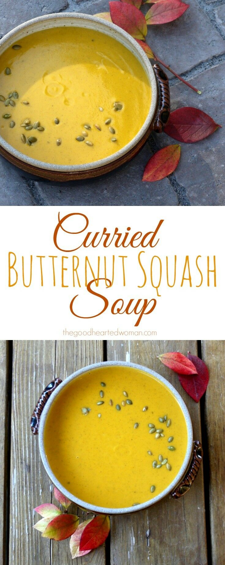 Curried Butternut Squash Soup | The Good Hearted Woman