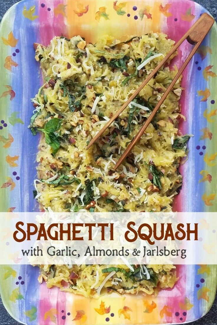Spaghetti Squash with Garlic & Almonds | Easy Spaghetti Squash Recipe | The Good Hearted Woman