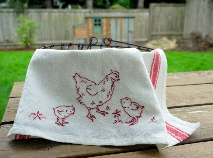 Chicken Tea Towel 3