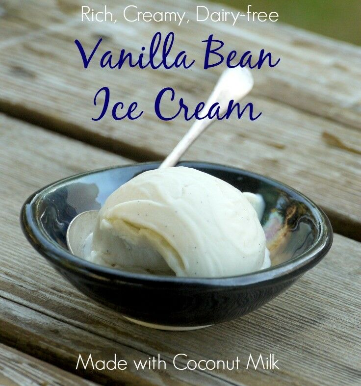 Rich, Creamy, Dairy-free Vanilla Bean ICe Cream made with coconut milk | The Good Hearted Woman