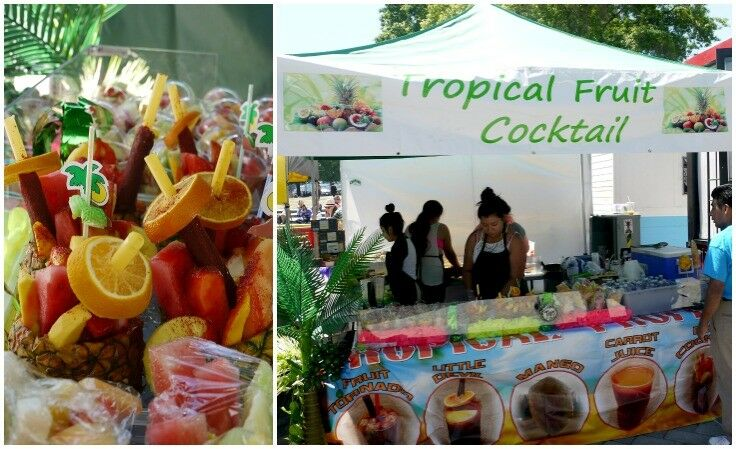 Tropical Fruit Cocktail Stand at Portland Saturday Market  - 2015 Season | The Good Hearted Woman
