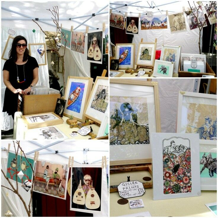 Artist Renee Staech at Portland Saturday Market  - 2015 Season | The Good Hearted Woman