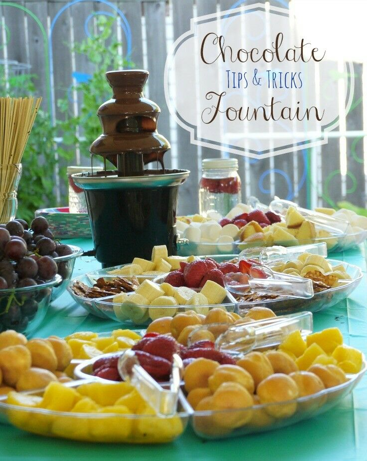 Chocolate Fountain Tips & Tricks | The Good Hearted Woman