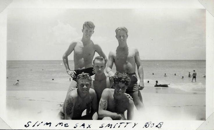 Sailors on the beach at Waikiki 1945| The Good Hearted Woman