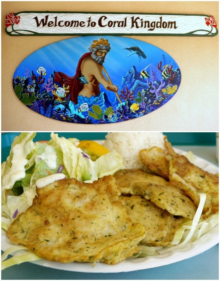 Oahu Cheap Eats - Coral Kingdom Mahi Mahi Plate| The Good Hearted Woman