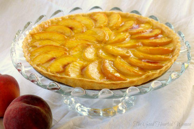 Fresh Peach Tart with Vanilla-Cardamom Cream | The Good Hearted Woman