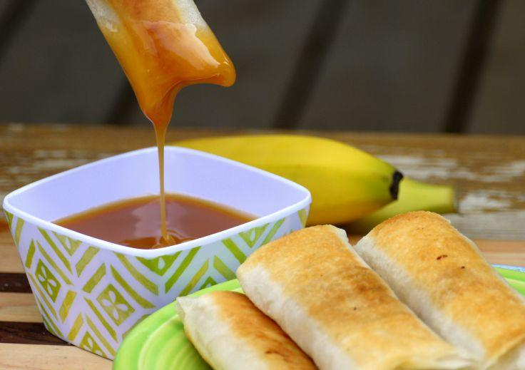 Delightfully sweet with a delicate crisp bite, Banana Lumpia [Filipino Turon] is one of the easiest desserts you will ever make.| The Good Hearted Woman