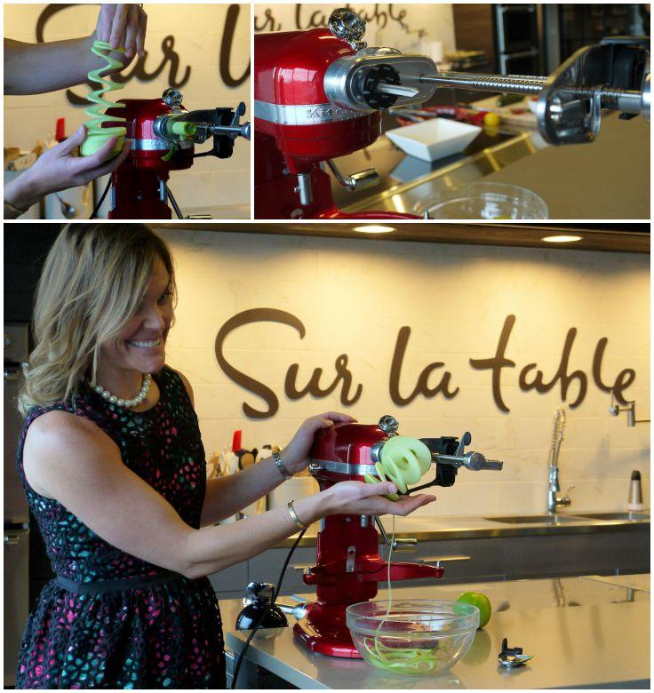 Demo of KitchenAid Spiralizer attachment at IFBC 2015 excursion to Sur La Table Seattle Headquarters | The Good Hearted Woman