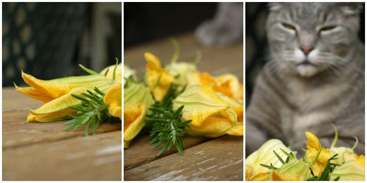 Grilled Squash Blossoms with Sweet Potato, Marscarpone, and browned butter stuffing | The Good Hearted Woman