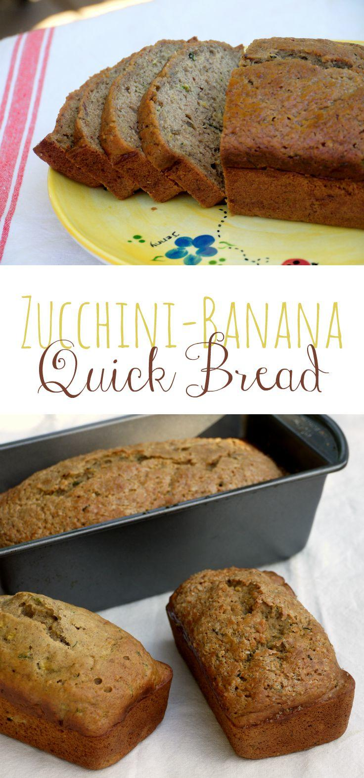 Is it Zucchiana Bread? Banini Bread? Whatever you want to call it, this amazingly moist zucchini-banana bread is the best of both worlds! | The Good Hearted Woman