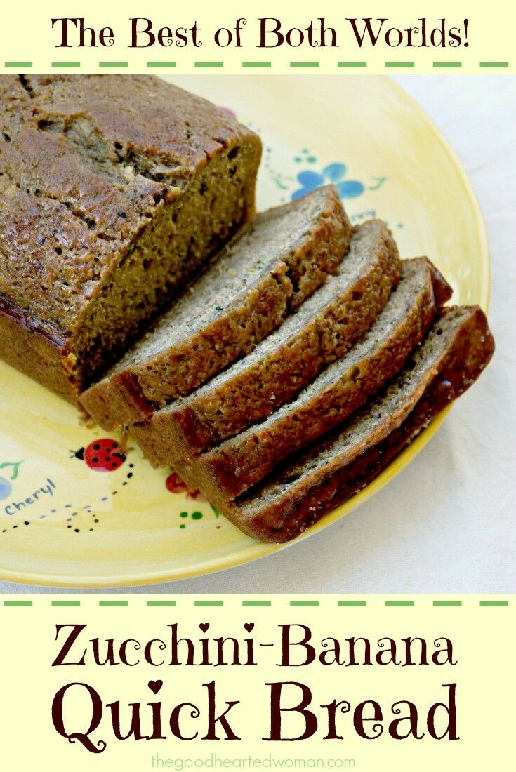 Best Zucchini-Banana Bread Ever! {Recipe} | The Good Hearted Woman