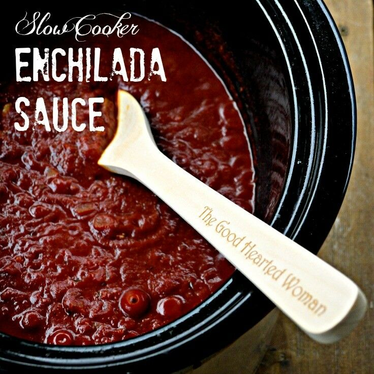 My recipe for Slow Cooker Enchilada Sauce - a subtly complex blend of savory, spicy, sweet, and smoky - all comes together in just 15 minutes of hands-on prep time. | The Good Hearted Woman