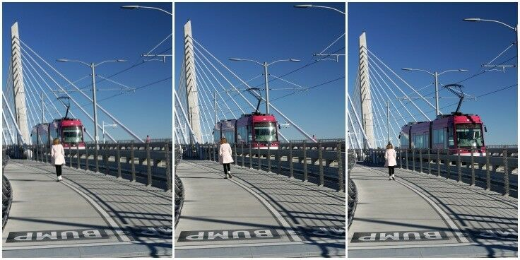 Tilikum Crossing, the country's first car-free pedestrian and transit bridge. | The Good Hearted Woman