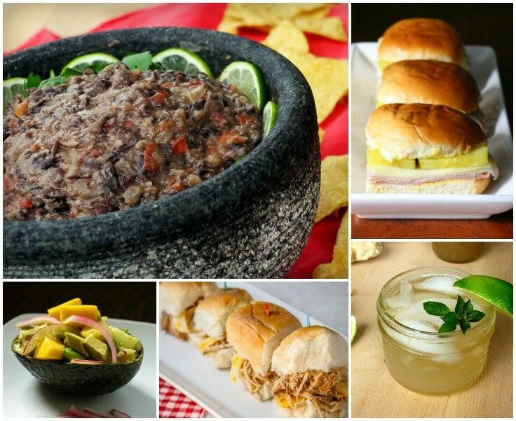 My Super Easy Super Bowl Party Menu - including Creamy 15-Minute Cuban Black Bean Dip!