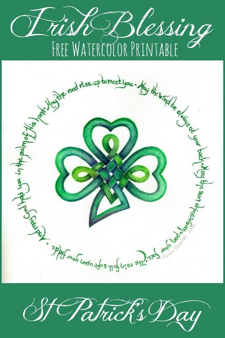 graphic regarding Printable Irish Blessing titled An Irish Blessing Cost-free Artwork Printable