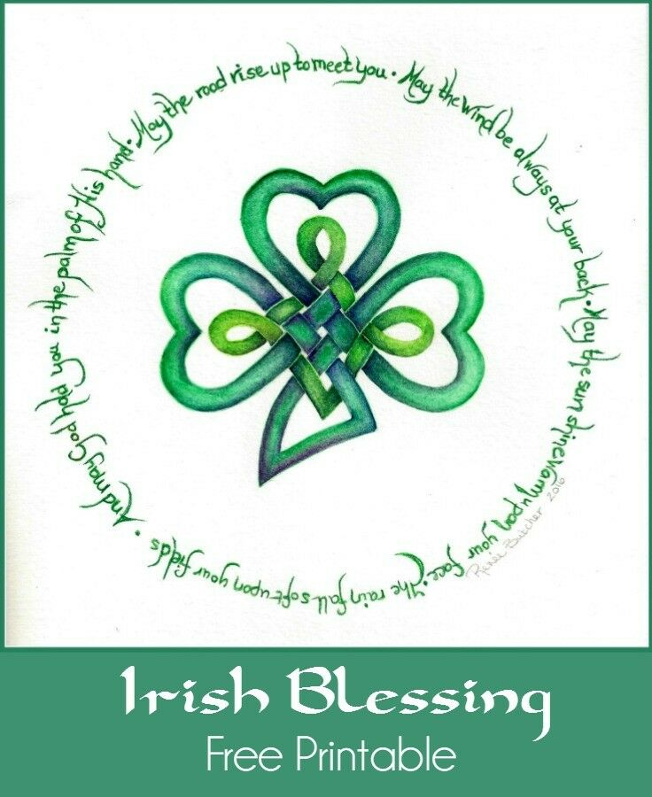 An Irish Blessing. Hand painted watercolor - free printable PDF.