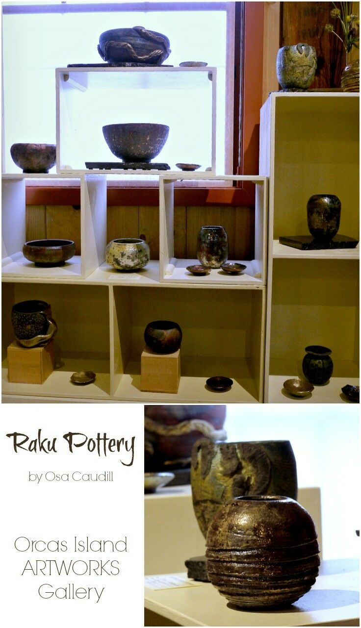 Raku Pottery by Osa Caudill at the Orcas Island Artworks | The Good Hearted Woman