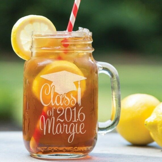Personalized Graduation Mason Jar