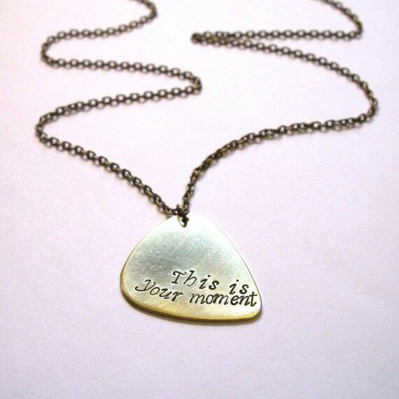 """This is Your Moment"" Guitar Pick / Necklace"