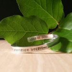 """Let the Adventure Begin"" Hand Stamped Cuff Bracelet - $24"