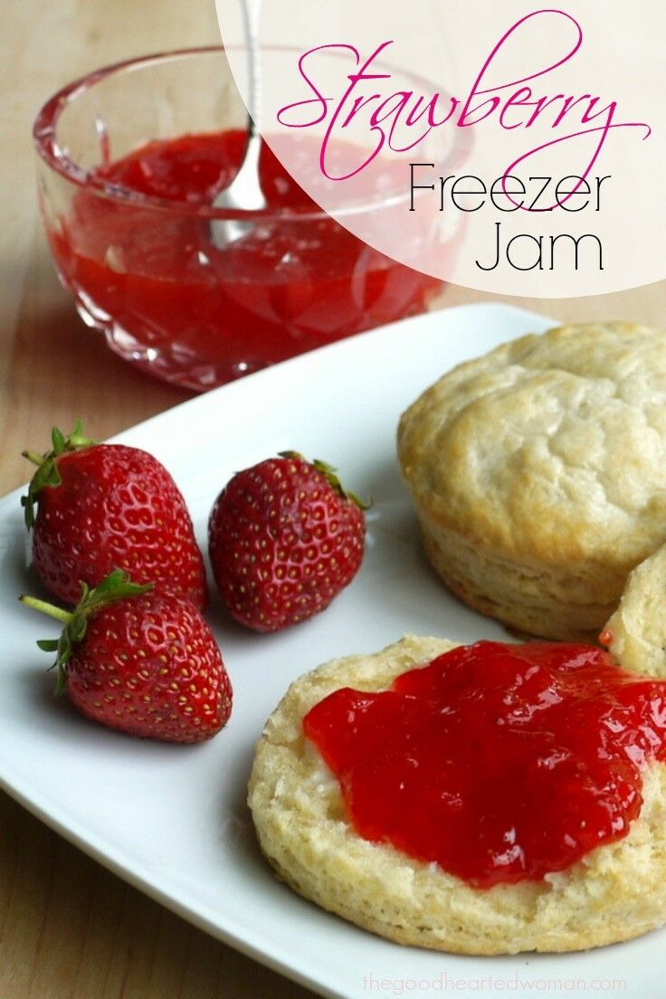 Strawberry Freezer Jam {Tutorial} - Strawberry freezer jam is one of the easiest ways to preserve the fresh taste of summer.
