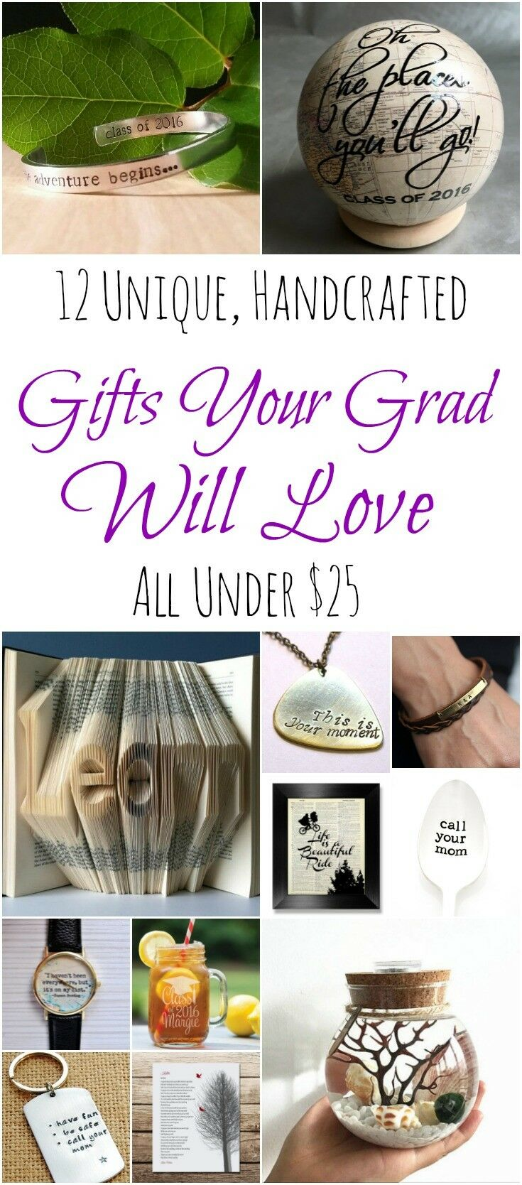 12 Unique, Handcrafted Gifts for Grads Under $25 | The Good Hearted Woman