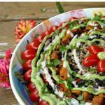 Potluck-Worthy Big {Cuban} Salad with Spicy Maple-Lemon Cashew Sauce | The Good Hearted Woman