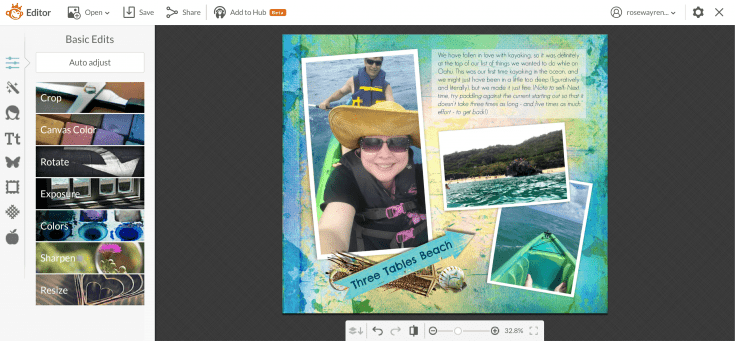 PicMonkey is a simple, easy-to-use tool for editing photos online. From Capturing Adventure {Blurb Photo Book Review} | The Good Hearted Woman