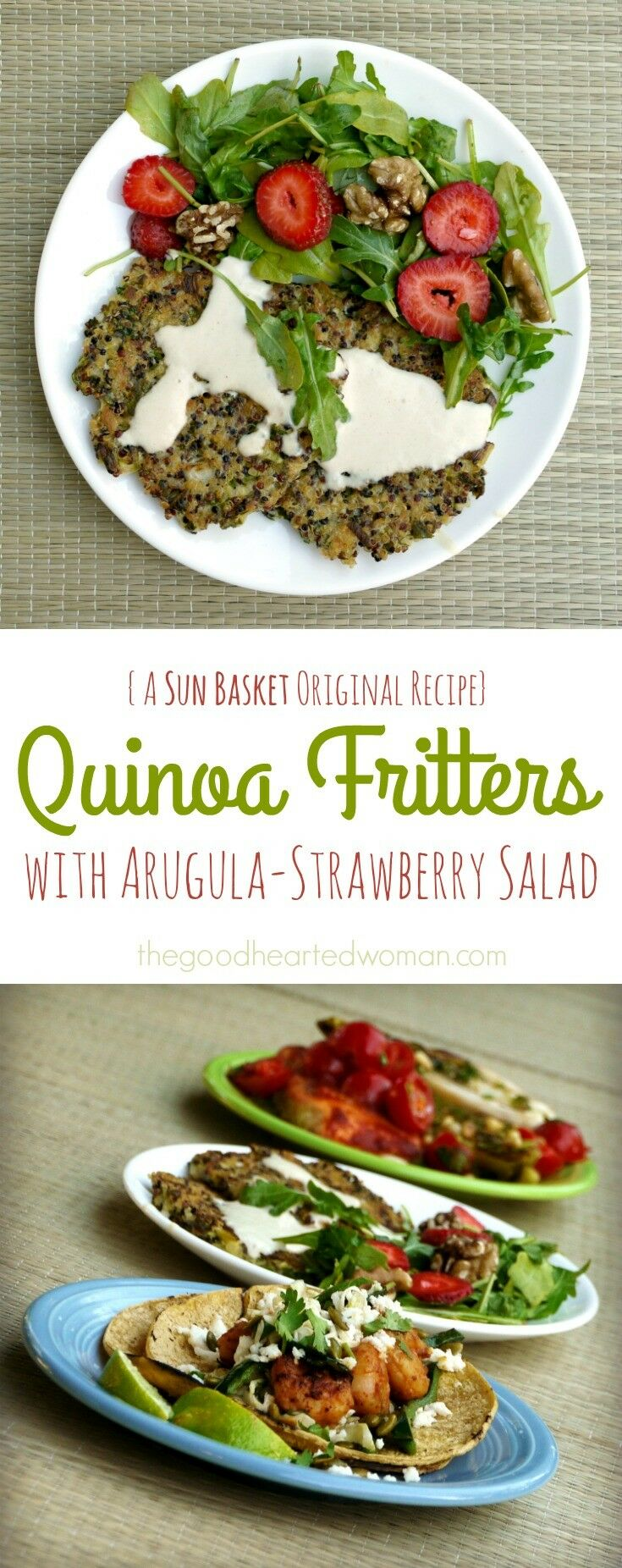 Quinoa Fritters were a huge hit with our family! Clean, Responsible, Healthy & Delicious: A Review of Sun Basket Organic Meal Delivery | The Good Hearted Woman