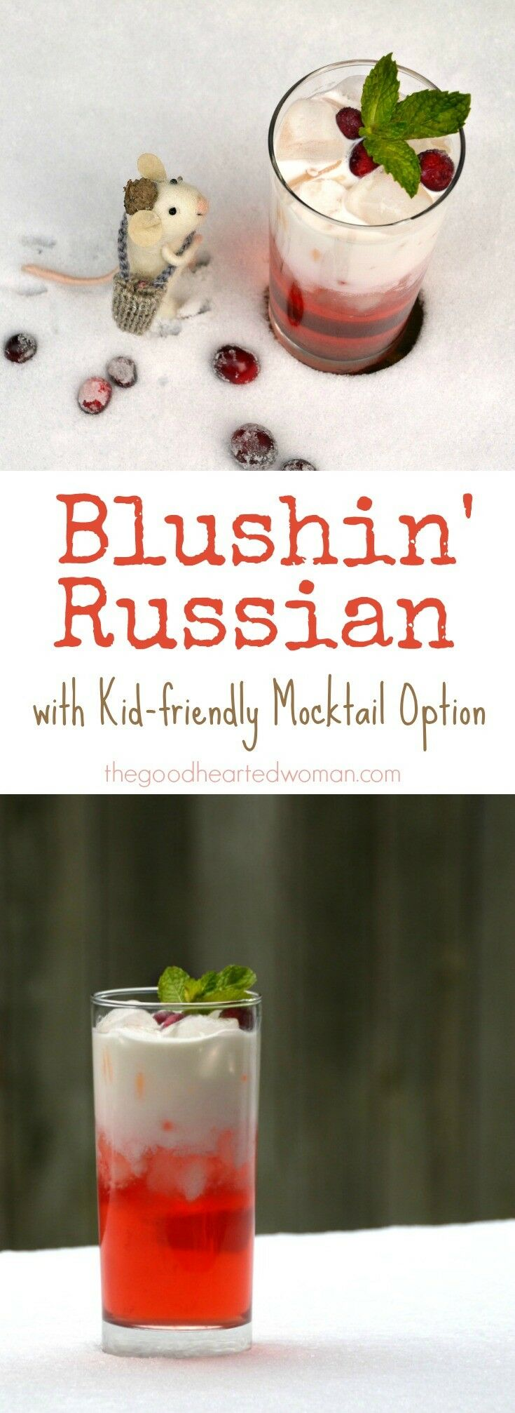 This Blushin' Russian – a beautiful, delicious twist on a traditional Italian Soda – is a great option for imbibers and teetotalers alike. | The Good Hearted Woman