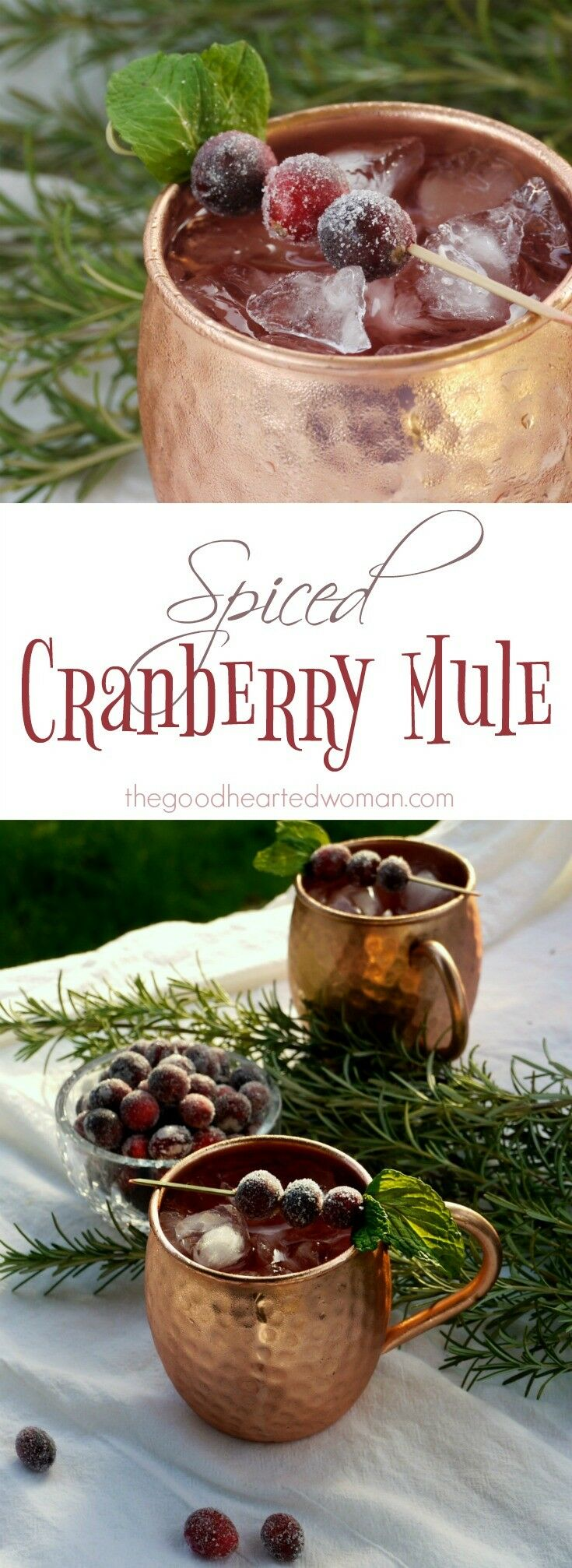 Spiced Cranberry Mule | The Good Hearted Woman
