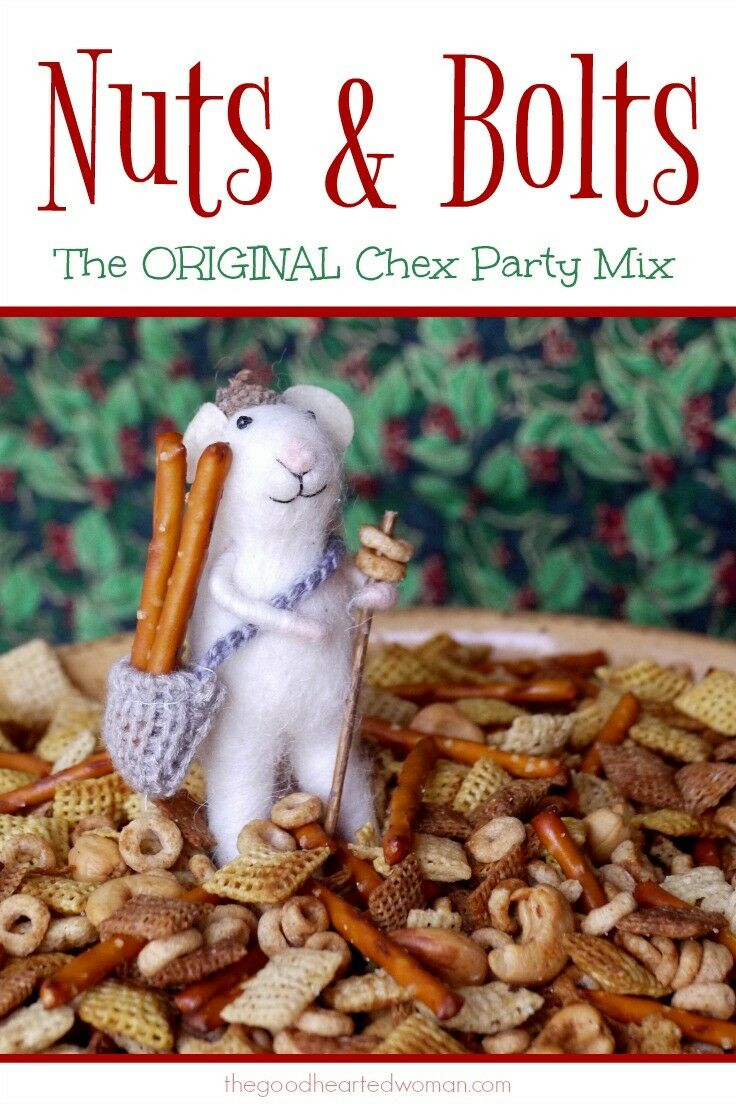 Nuts & Bolts - The Original Chex Party Mix | The Good Hearted Woman