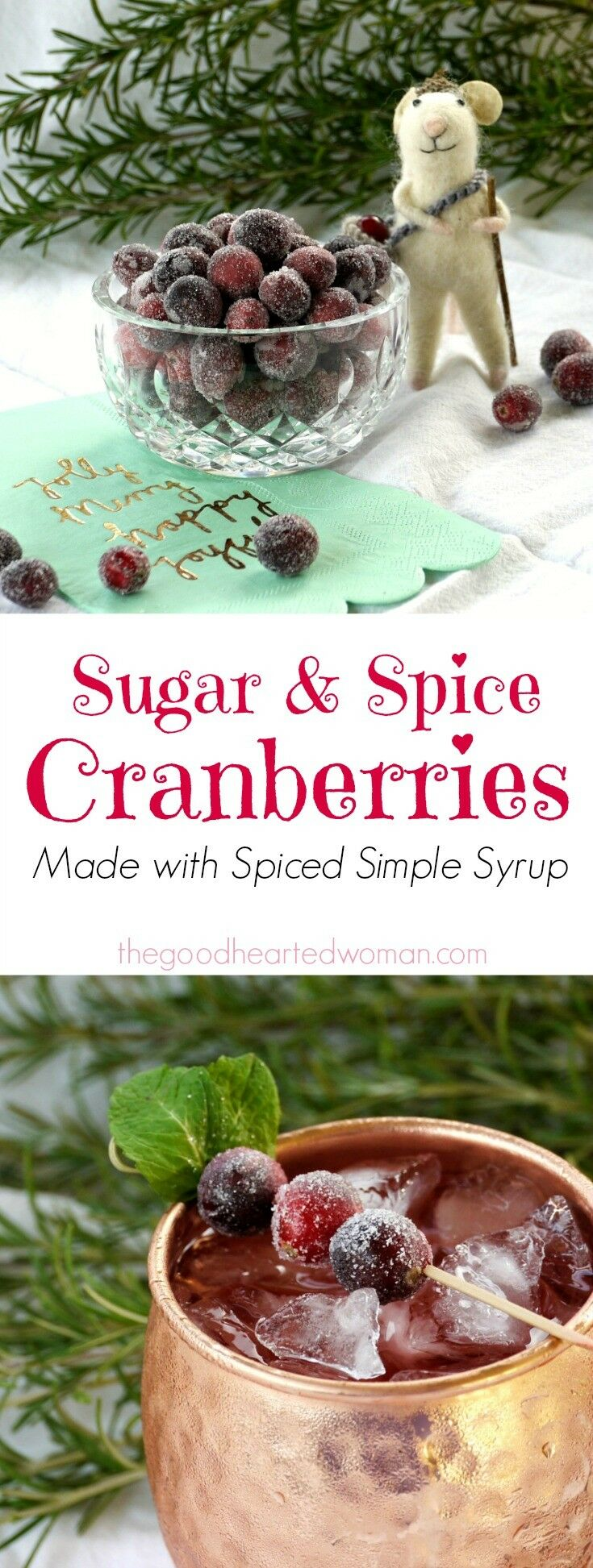 Sugar & Spice Cranberries {Made with Spiced Simple Syrup} | The Good Hearted Woman