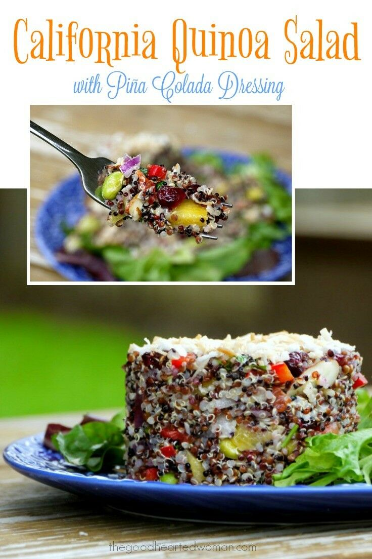 California Quinoa Salad with Piña Colada Dressing {Recipe} | The Good Hearted Woman