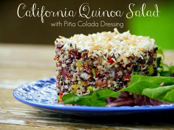 California Quinoa Salad with Piña Colada Dressing | The Good Hearted Woman
