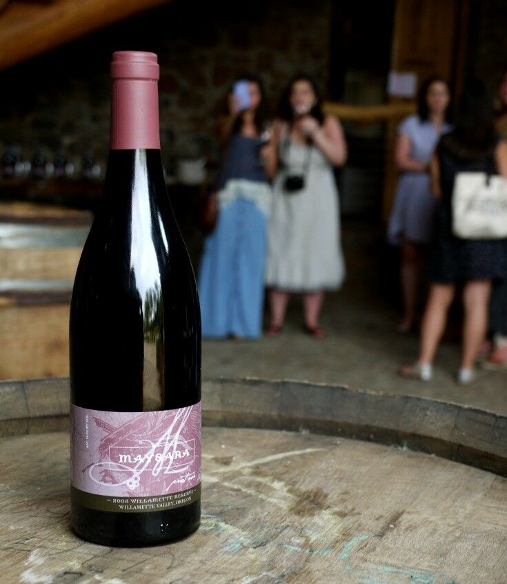 Bottle of Red - Estate Grown, Naturally - A Tour of Maysara Winery & Momtazi Vineyard, McMinnville, Oregon | The Good Hearted Woman
