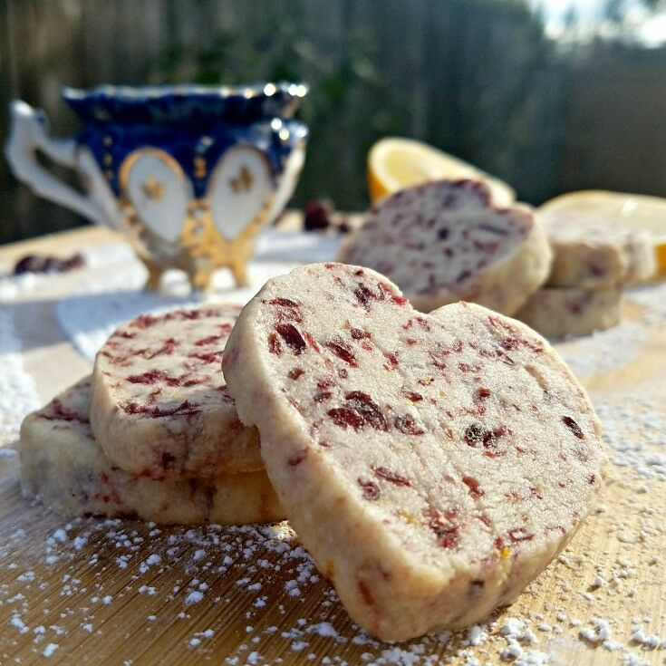 Meyer Lemon & Cranberry Shortbread Hearts {+28 Meyer Lemon Recipes to Brighten Your Day!}