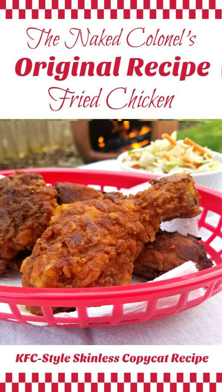 The Naked Colonel's Original Recipe Fried Chicken {KFC-Style Skinless Copycat Recipe} | The Good Hearted Woman