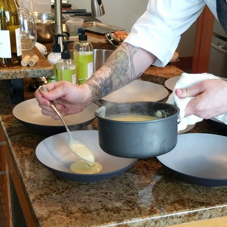 Menu Tasting with Headland's Chef Garrison {Seared Sturgeon Recipe} | The Good Hearted Woman