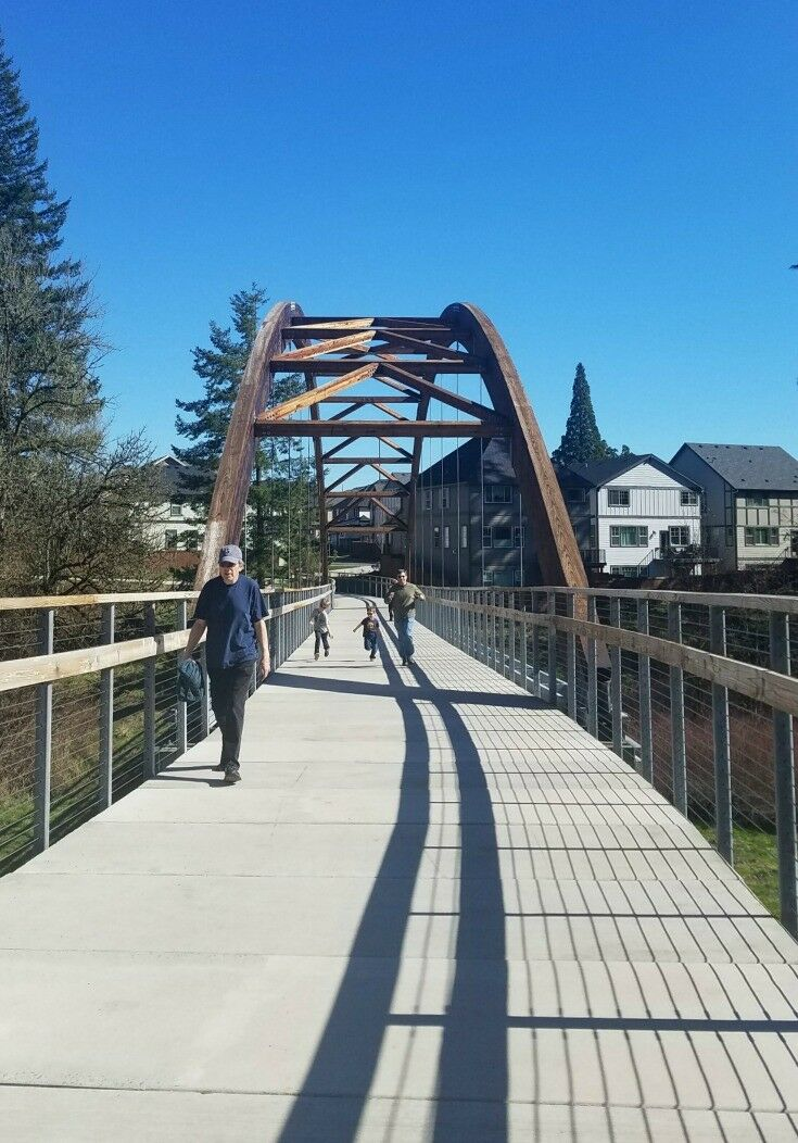 Arched Bridge - Orenco Woods Nature Park {Hillsboro, Oregon} | The Good Hearted Woman