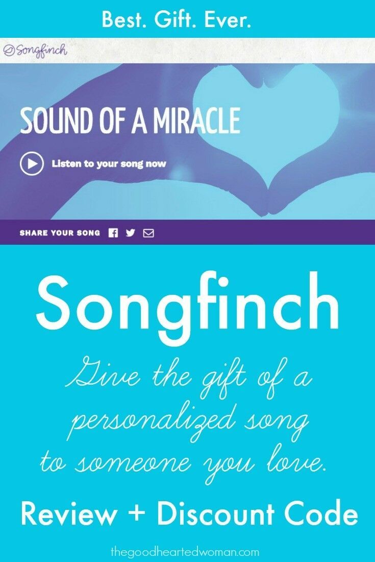 This year, give them a gift that they will remember, treasure, and love forever - a Songfinch personalized song, written just for them. {Review + Discount Code} | The Good Hearted Woman