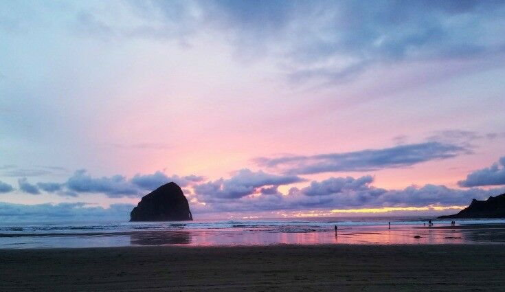 Sunset at Haystack Rock, Pacific City, Oregon | The Good Hearted Woman