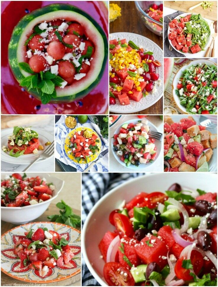 Salads - Watermelon Recipes | The Good Hearted Woman